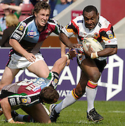 Twickenham, ENGLAND,  Bulls, Stanley Gene, breaking through in the   'Engage Super league'  between Harlequins RL vs Bradford Bulls, at the Stoop, 13.05.2006. © Peter Spurrier/Intersport-images.com,  / Mobile +44 [0] 7973 819 551 / email images@intersport-images.com.