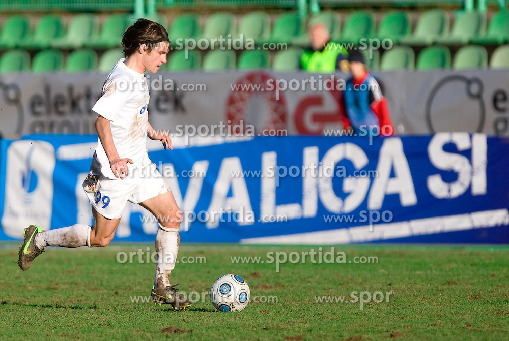 Rok Straus of Celje at  football match of 22nd Round of First League between NK Interblock and NK Celje, on December 9, 2009,  in ZSD Ljubljana, Ljubljana, Slovenia.   (Photo by Vid Ponikvar / Sportida)