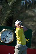 19.01.2013 Abu Dhabi, United Arab Emirates.  David Horsey in action during the European Tour HSBC Golf championship  third round from the Abu Dhabi Golf Club.