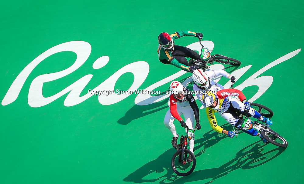18/08/2016 - 2016 Rio Olympic Games - BMX - Olympic BMX Centre, Rio de Janeiro, Brazil - Men's Quarter Finals. Picture by Alex Whitehead/SWpix.com / www.photosport.nz