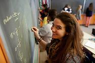 Westover School-December 2012- Anna Chahuneau in math class. (Photo by Robert Falcetti)