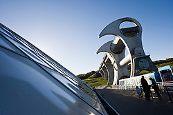 The Falkirk Wheel, it is a rotating boat lift located in Scotland, UK, connecting the Forth and Clyde Canal with the Union Canal, and opened in 2002..Pic ©2010 Michael Schofield. All Rights Reserved.