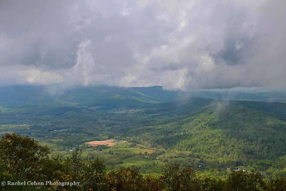 &quot;Down Came the Rain&quot;<br /> <br /> Scenic mountain view in the Blue Ridge in-between storms!!<br /> <br /> The Blue Ridge Mountains by Rachel Cohen