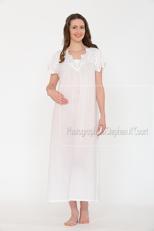 Swiss Dot Lace Nightgown. Photo credit: Stephen A'Court.  COPYRIGHT ©Stephen A'Court