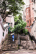 Stairs at Upper mid-levels, Central, Hong Kong.