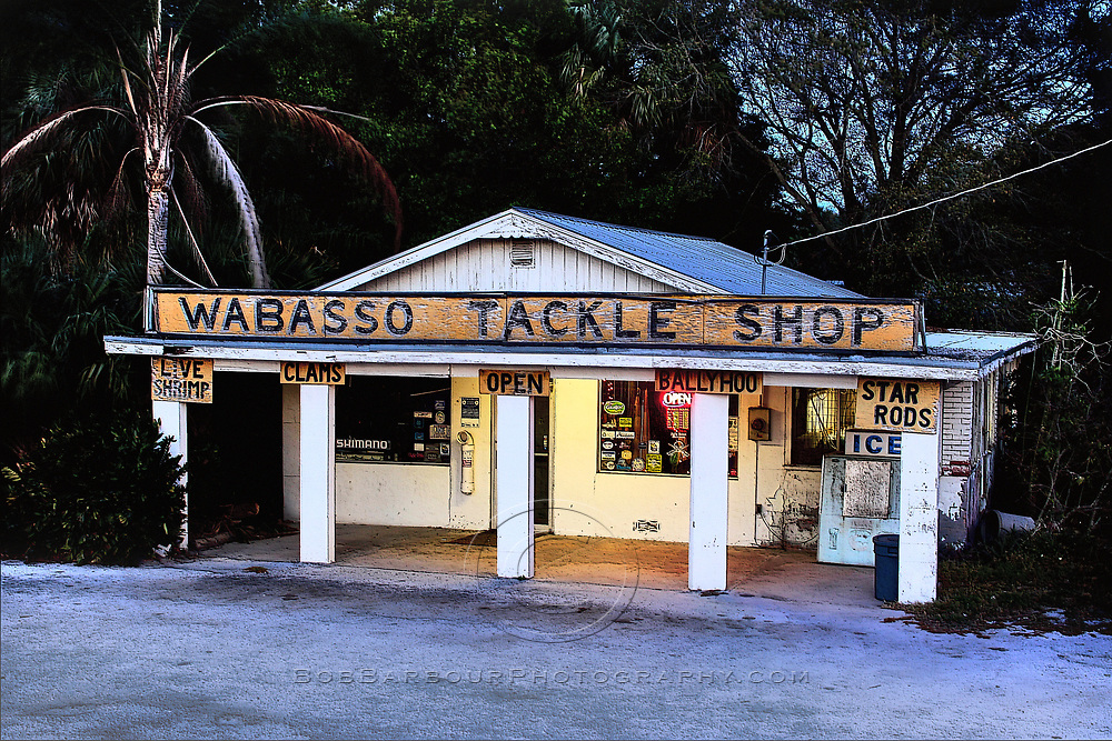 Wabasso Tackle Shop<br /> <br /> Prints available Contact Bob Barbour for quality prints at 772.538.4821<br /> Vero Beach, FL