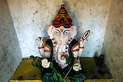 Sri Lanka. Ganesh shrine by Wijeyratna near Ulagalla off A9 road, just south of Tirappane. 2006