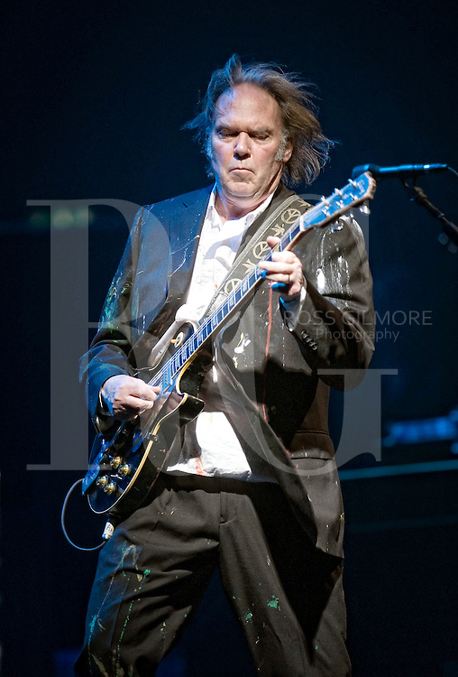 Neil Young performs at the Edinburgh Playhouse to a sell out crowd, at the start of his UK tour.