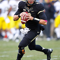 WEST LAFAYETTE, IN - OCTOBER 06: Quarterback Robert Marve #9 of the Purdue Boilermakers warms up during half time against the Michigan Wolverines at Ross-Ade Stadium on October 6, 2012 in West Lafayette, Indiana. (Photo by Michael Hickey/Getty Images) *** Local Caption *** Robert Marve
