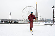 PR546 man skiing on Place de la Concorde in Paris