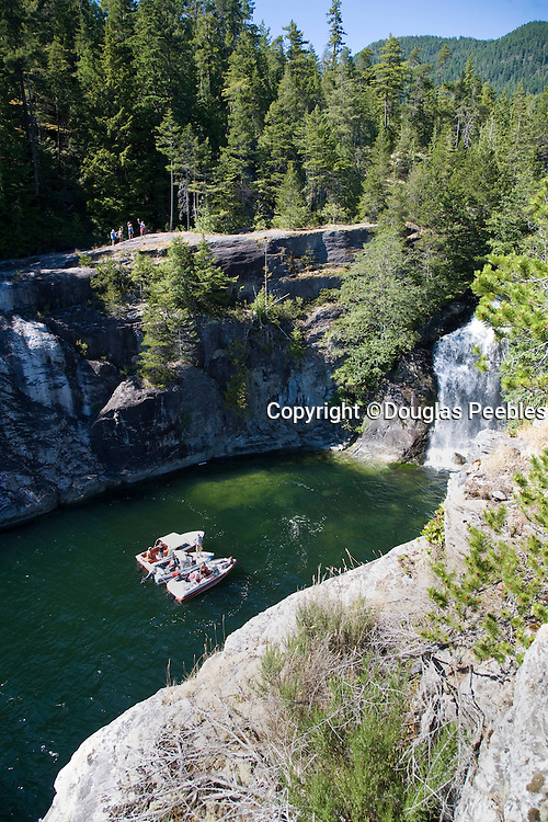 Waterfall, Teakearne Arm, Desolation Sound, British Columbia, Canada