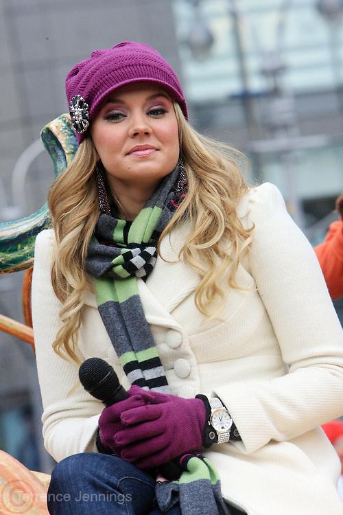 26 November 2009, NY, NY- Tiffany Thornton at The 2009 Macy's Day Parade held on November 26, 2009 in New York City. Terrence Jennings/Sipa