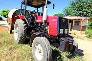 Tractor in Playa Baracoa, Artemisa, Cuba.
