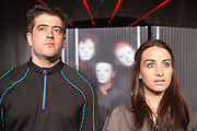 14/11/2012. London, UK. Cira Luna Theatre present the first UK staging of Stanislaw Lem's 1961 cult classic Solaris, directed by Dimitri Devdariani, at the Courtyard Theatre, London. Picture shows: Murray Simon (Gibarian) & Tara Godolphin (Rheya).
