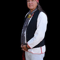 USA; Arizona; Desert Southwest, Dragoon mountains,Charlie OneHorse, Yaqui, portrait of a man