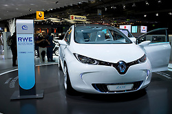 Renault Zoe electric car at Frankfurt Motor Show or IAA 2011 in Germany