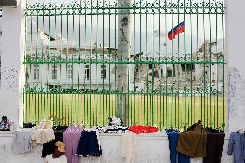 National Palace. Port Au Prince, Haiti. 2/25/2010. Photo by Ben Depp