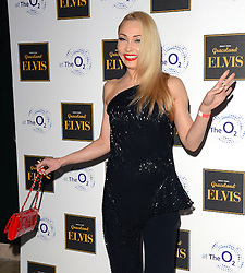 Iveta Lukosiute attends Elvis At The O2 Gala Night at The O2, Peninsula Square, London on 15th December 2014