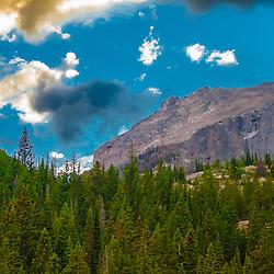 Hallett Peak over Bear Lake, Rocky Mountain National Park, Colorado