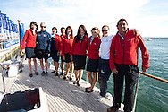 10th August 2011. Cowes. Isle of Wight..Pictures showing Natalie Pinkham and Zara Phillips with the Rum Jungle crew before The Artemis Challenge round the Island race during Aberdeen Asset Management Cowes Week 2011...Credit: Lloyd Images.