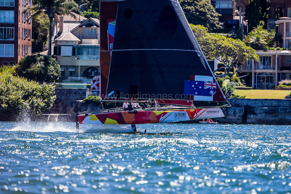 The Extreme Sailing Series 2016. Team Australia: Sean Langman, Sean Langman, Seve Jarvin, Marcus Ashley-Jones, Rhys Mara, Gerard Smith .Act 8.Sydney,Australia. 8th-11th December 2016. Credit - Jesus Renedo/Lloyd Images