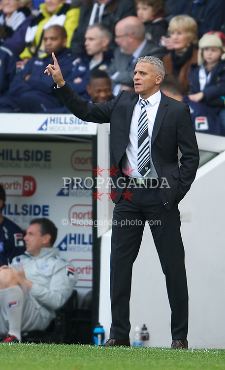 NOTTINGHAM, ENGLAND - Saturday, October 6, 2012: Notts County's Keith Curle during the Football League One match against Tranmere Rovers at Meadow Lane. (Pic by David Rawcliffe/Propaganda)