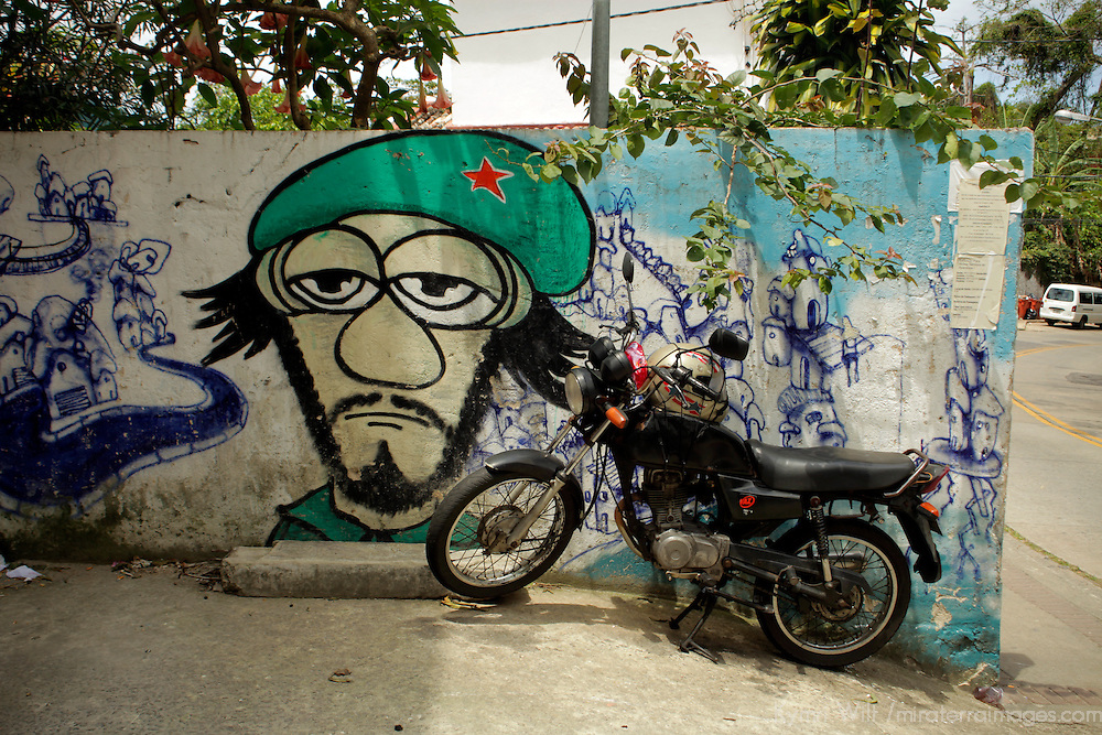 South America, Brazil. Rio de Janeiro. Street scene from Favela of Vila Canoas.