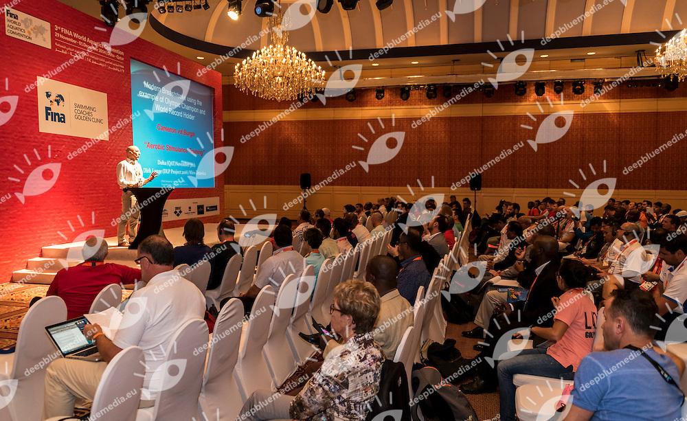 Dirk Lange Headcoach and Head of DPL Project 2016<br /> Fina Swimming Coaches Golden Clinic<br /> FINA 3rd World Aquatics Convention<br /> Doha (Qatar) 28 -30 Nov. 2014<br /> Photo Giorgio Scala / Deepbluemedia