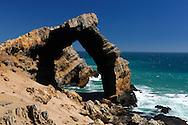 Bogenfels, Arch on coast, Sperrgebiet, Luderitz, Karas Region, Namibia
