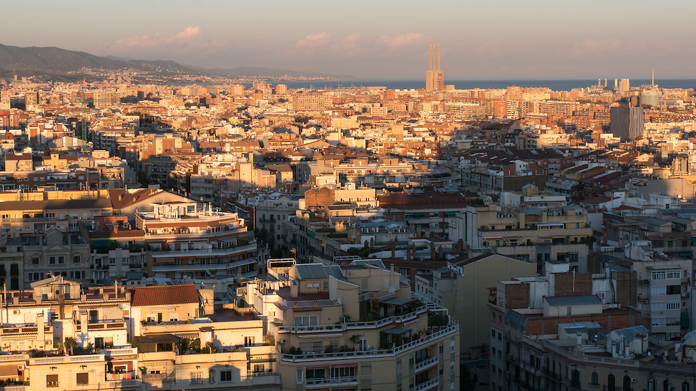 Barcelona, under the perennial shadow of Gaudi's La Sagrada Familia.