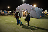Amatrice, many people have been left without home and are preparing to spend the night in some makeshift shelters.