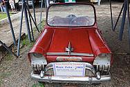 Old car in Santiago de Cuba, Cuba.