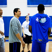 LEXINGTON, KY -- October 17, 2013 -- University of Kentucky Basketball, Orlando Antigua -- (PHOTO / CHIP LITHERLAND)