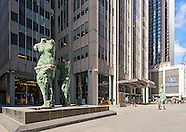 """Jim Dine's """"Looking Toward the Avenue"""" sculptures , 1301 Avenue of the Americas, Manhattan, New York"""