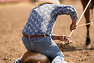 Rocky Boy Rodeo-Indian cowboys-Tie Down Roping-calf roping-two wraps and a hooey-Rocky Boy Reservation-Montana-Roy Begay Navajo