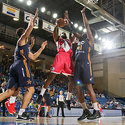 Delaware 87ers Forward ROSCOE SMITH (31) drives towards the basket as Salt Lake City Stars Center HENRY SIMS (41) defends in the first half of an NBA D-league regular season game between the Delaware 87ers and the Salt Lake City Stars (Utah Jazz) Friday, March 17, 2017 at The Bob Carpenter Sports Convocation Center in Newark, DEL