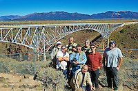 "Nikonians ANPAT 12 Van 3 ""Nikaliens"" Group Photo at the Rio Grande Gorge Bridge near Taos, New Mexico. Image taken with a Nikon D800 and 35 mm f/1.4G lens (ISO 160, 35 mm, f/8, 1/500 sec). RAW image processed with Capture One Pro 7."
