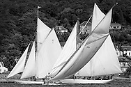 The Lady Anne 1912 a 15 metre tacks in front  of Mariquita 1911, a 19 metre and Altair, a 1931 Schooner. <br />