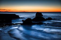 """Plaskett Rock at Sunset 5"" - Photograph taken at sunset of Plaskett Rock in Big Sur, California."
