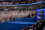Vice President Joe Biden waves after speaking at the Democratic National Convention on Thursday, September 6, 2012 in Charlotte, NC.