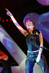 Danni Minogue performs on the Smash Hits 2002 tour, on stage at the Glasgow Armadillo..©2010 Michael Schofield. All Rights Reserved.