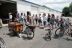 Jodi Eichelberger's ST(r)EAM Artist Studio/Gallery bike tour in the Surel Mitchell Live-Work-Create District in Garden City, Idaho on June 18, 2016.<br /> <br /> Tour started at the studios of Susan Madacsi, April VanDeGrift, Erin Cunningham, and continued to Ken McCall Studios, James &amp; Matt Wilson of Red Valley Mandolins, Arin Arthur, Angie Bowling Sebolt, Belinda Isley, Matt Herberg, Lisa Roggenbuck and the Visual Arts Collective.