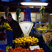 "SHOT 11/22/08 7:55:20 AM - Fruits, nuts and other food items for sale in the Old Town Square area of Prague, Czech Republic. Prague is the capital and largest city of the Czech Republic. Its official name is Hlavní m?sto Praha, meaning Prague, the Capital City. Situated on the River Vltava in central Bohemia, Prague has been the political, cultural, and economic centre of the Czech state for over 1100 years. The city proper is home to more than 1.2 million people, while its metropolitan area is estimated to have a population of over 1.9 million. Since 1992, the extensive historic centre of Prague has been included in the UNESCO list of World Heritage Sites. According to Guinness World Records, Prague Castle is the largest ancient castle in the world. Nicknames for Prague have included ""the mother of cities"", ""city of a hundred spires"" and ""the golden city"". Since the fall of the Iron Curtain, Prague has become one of Europe's (and the world's) most popular tourist destinations. It is the sixth most-visited European city after London, Paris, Rome, Madrid and Berlin. Prague suffered considerably less damage during World War II than some other major cities in the region, allowing most of its historic architecture to stay true to form. It contains one of the world's most pristine and varied collections of architecture, from Art Nouveau to Baroque, Renaissance, Cubist, Gothic, Neo-Classical and ultra-modern..(Photo by Marc Piscotty / © 2008)"