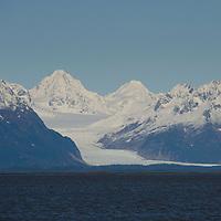 Mountains and Glaciers at Copper River Delta, Cordova, Alaska, US