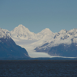Mountains and Glaciers at Copper River Delta, Cordova, Alaska, US