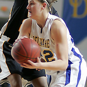 Delaware Sophomore Guard (#22) Lauren Carra grabs the rebound during VCU delaware game at the The Bob Carpenter Center In Newark Delaware Thursday Night.