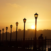 Sunrise from the pier in San Francisco.  Mandatory Credit: Dinno Kovic / Dinno Kovic Photography