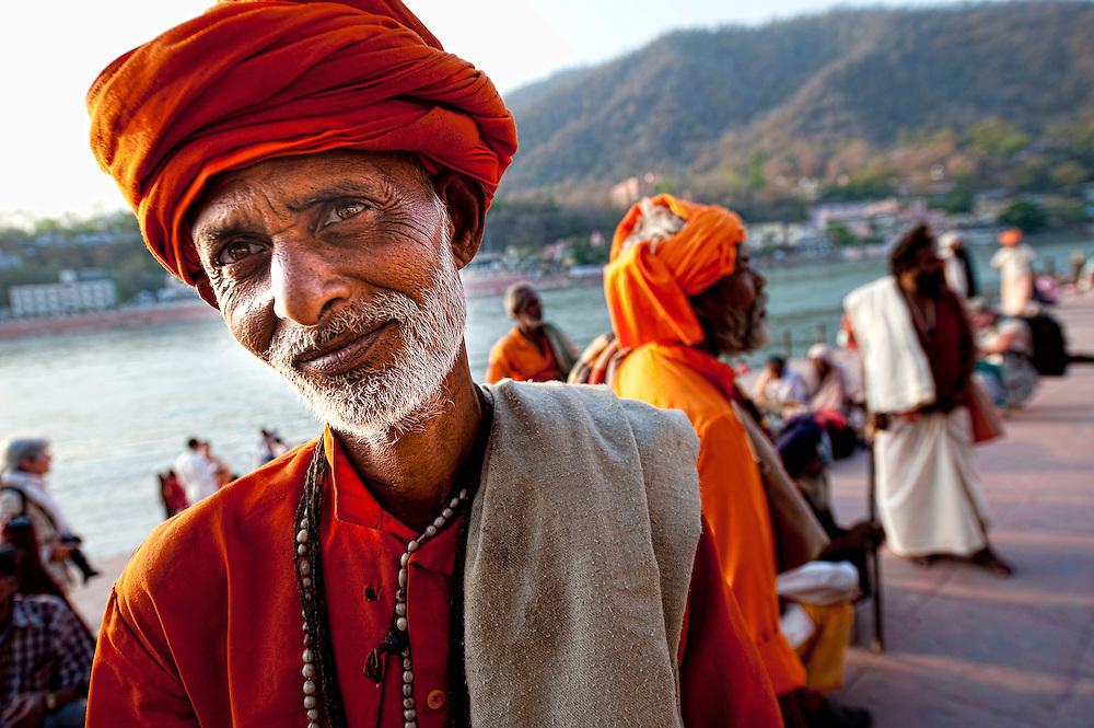 Asia, India, Rishikesh, Parmarth, Niketan Ashram, Ganga Ghat