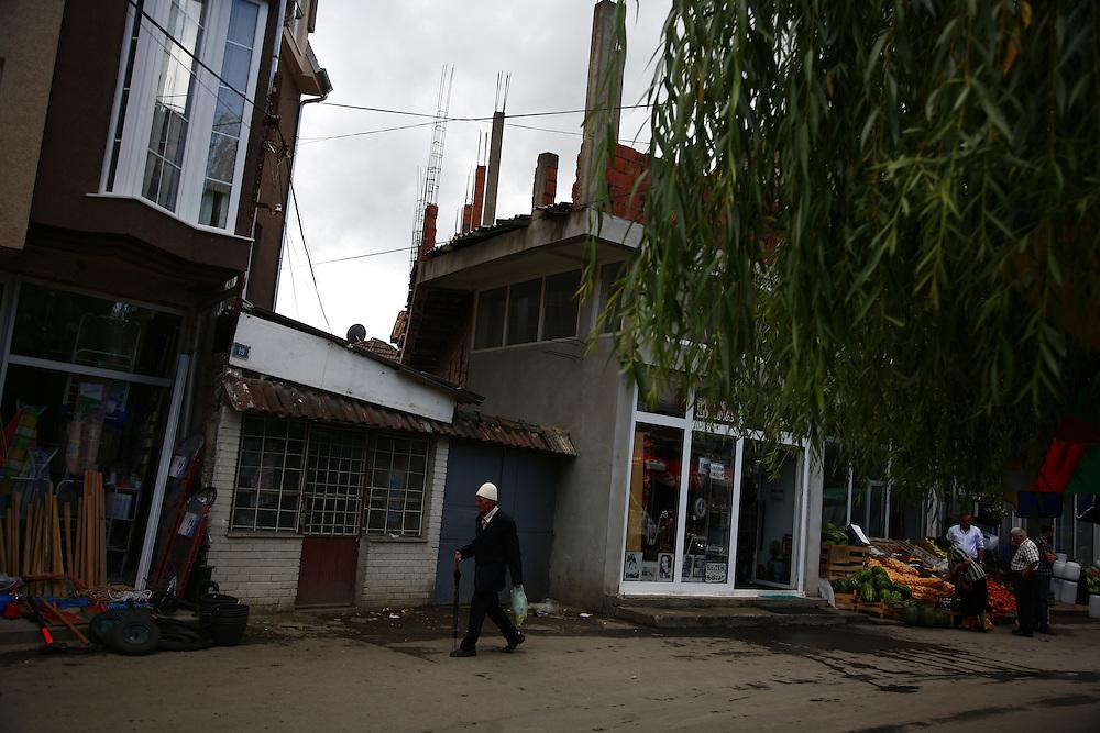 Albanian side of Mitrovica, Kosovo..Border crisis, July 2011