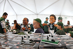 June 14, 2012; Florham Park, NJ, USA; New York Jets fans shop for items before the start of New York Jets Minicamp at the Atlantic Health Training Center.